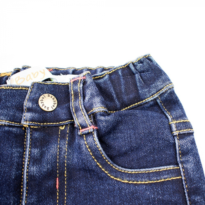 Set tricou bumbac si pantalon jeans, baiat,  Babybol Barcelona 4