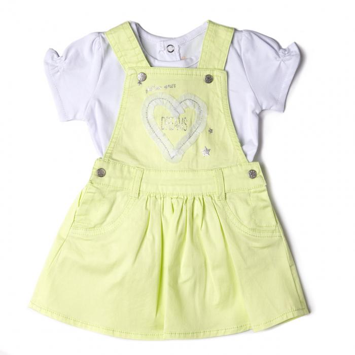 Set vara fetite sarafan cu tricou, Babybol 0