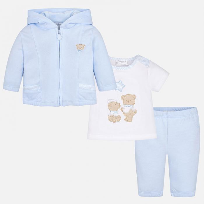 Trening bebe baiat, 3 piese, blue , Mayoral 0