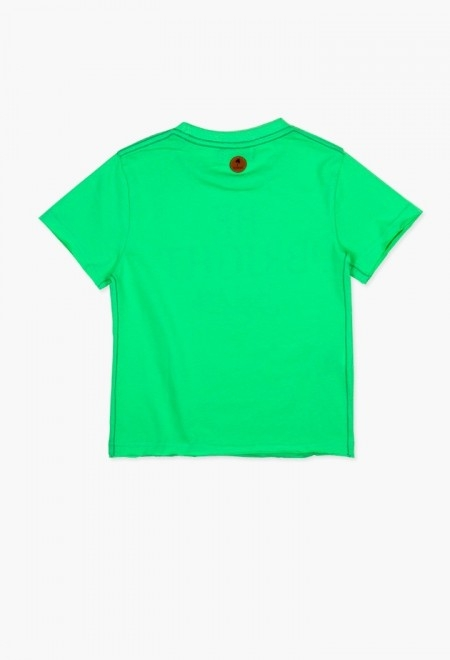 Tricou baiat cu maneca scurta verde Boboli 1