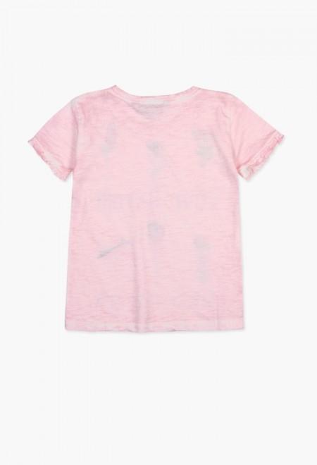Tricou fete 4-14ani Boboli cu maneca scurta, roz 1