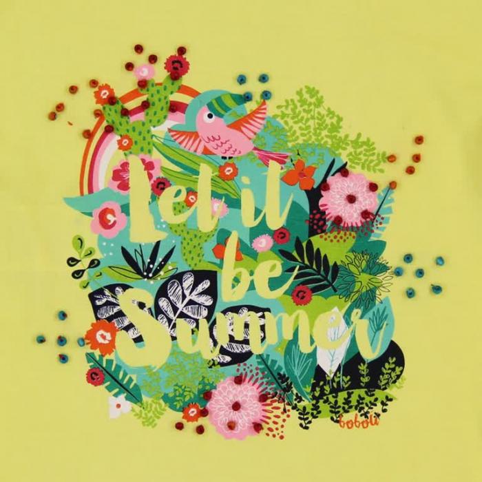 Tricou fete cu maneca scurta imprimeu floral ,Boboli 3