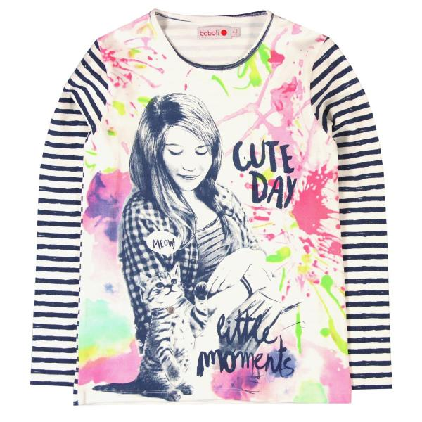 "Tricou fete ""Cute Day"" Boboli 0"