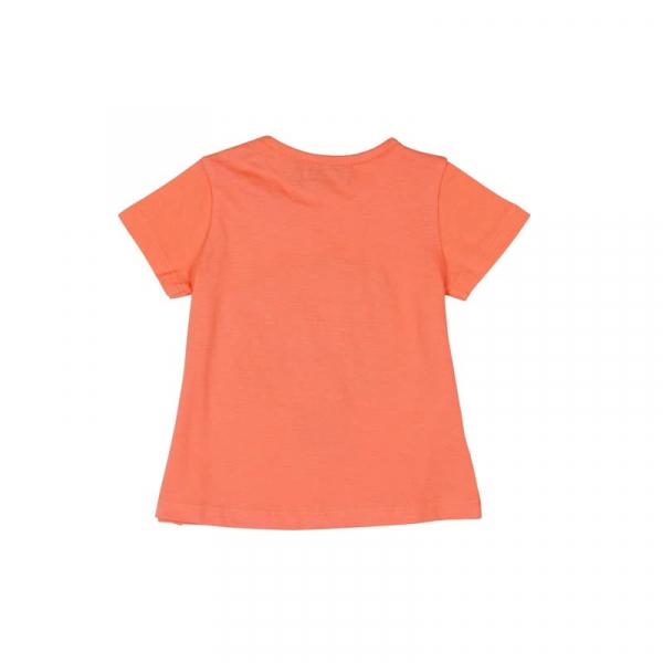 Tricou fete maneca scurta , orange , floare aplicata, Boboli 1