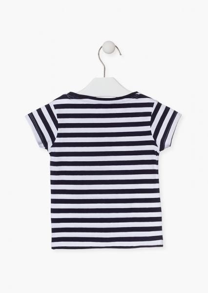 Tricou fete vara, gargarita paiete reversibila, dungi navy 1