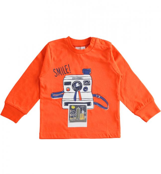 Tricou maneca lunga baiat,orange,iDO 0