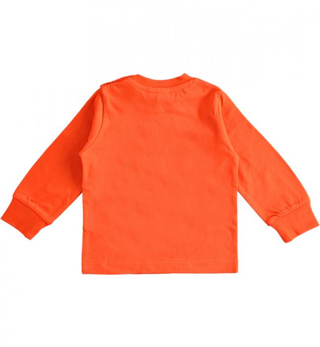 Tricou maneca lunga baiat,orange,iDO 1