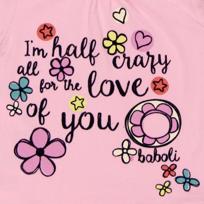 Tricou maneca lunga fetite Boboli, roz 2