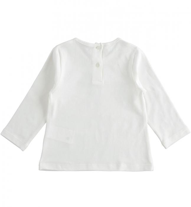 Tricou maneca lunga fetite, print gliterat, iDO 1