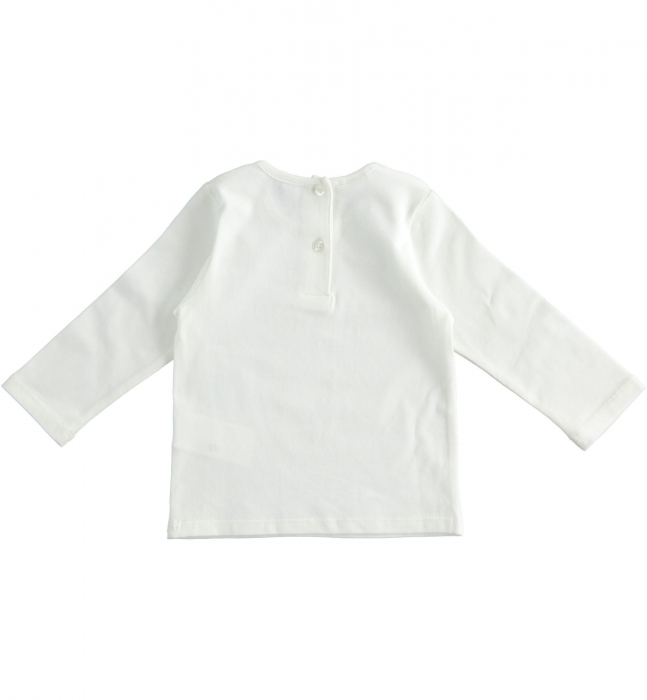 Tricou maneca lunga fetite ,print grafic , strasuri aplicate, iDO 1