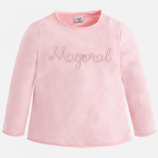 Tricou maneca lunga fetite roz Mayoral 0