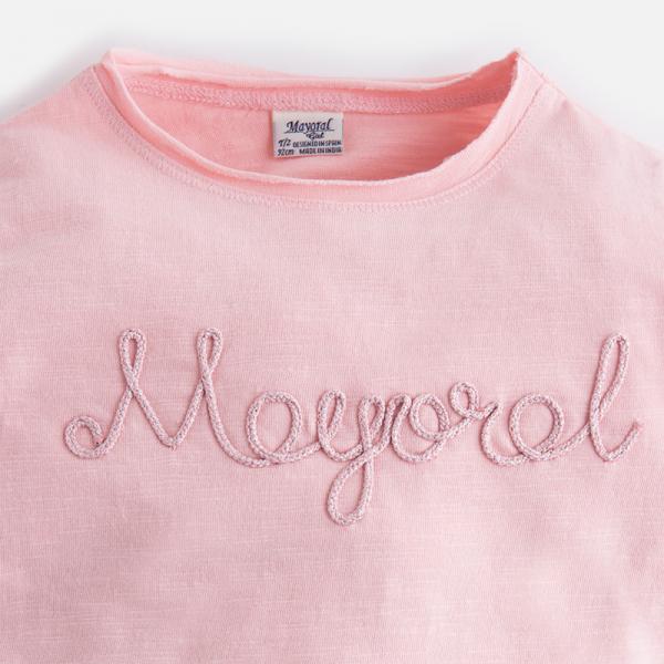 Tricou maneca lunga fetite roz Mayoral 2