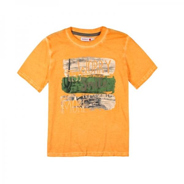 Tricou maneca scurta baiat orange Boboli 0