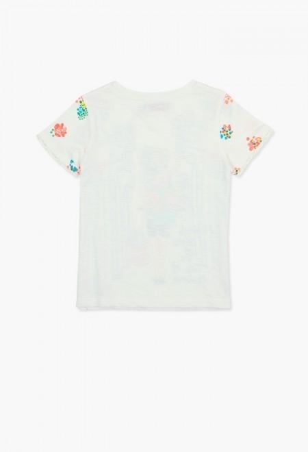 Tricou maneca scurta fete Boboli 4-14 ani cu imprimeu fetita 1