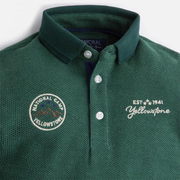 Tricou polo verde baiat Mayoral 2
