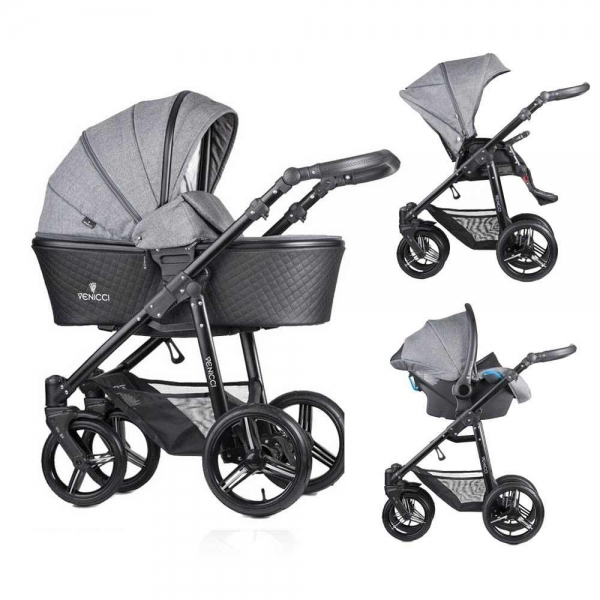Carucior 3 in 1 Venicci Editie Speciala Shadow Grey 0