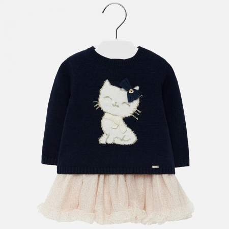 Rochie tulle cu pisicuta Mayoral0