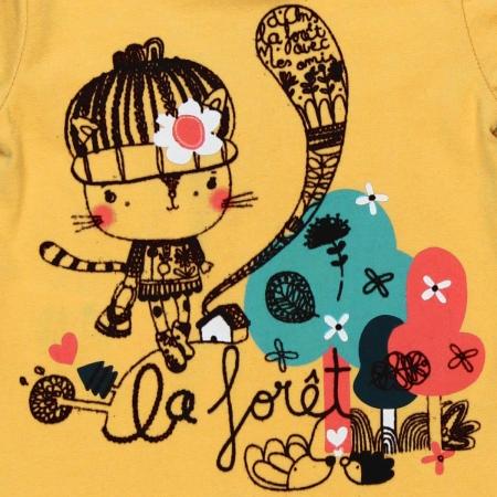 Tricou maneca lunga , imprimeu fetita, Boboli2