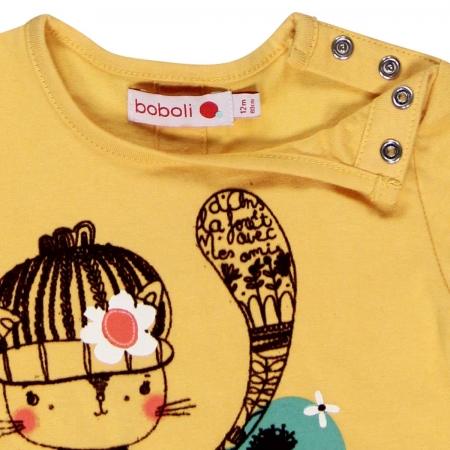 Tricou maneca lunga , imprimeu fetita, Boboli3
