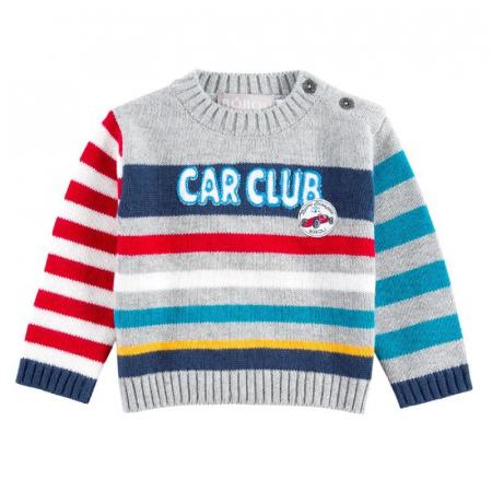 """Pulover bebe baiat, multicolor, """"car club"""", Boboli0"""