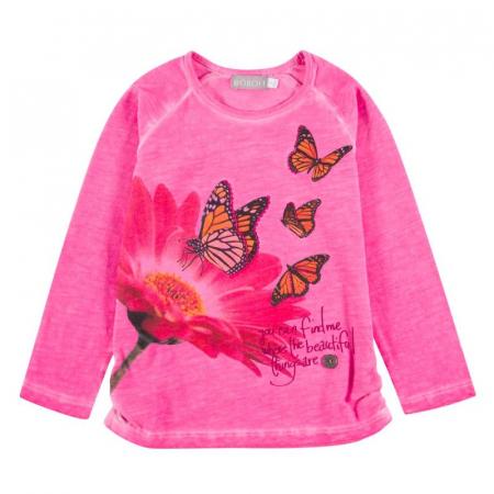 Tricou fete Boboli , imprimeu fluturi0