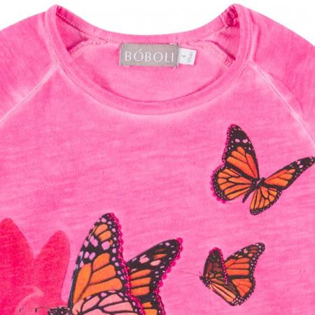 Tricou fete Boboli , imprimeu fluturi2