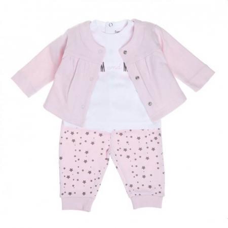 Babybol Set 3 piese fete 6-18 luni, roz0