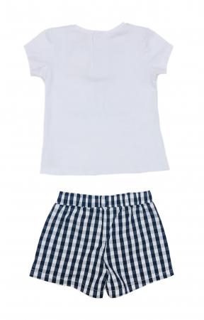 Babybol Set 3 piese fete tricou & pantalon scurt& bandana, navy2