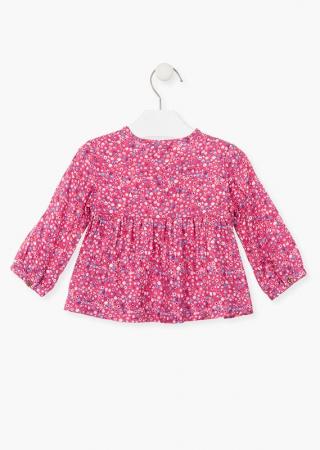 Bluza bebe fetita, imprimeu floral,roz Losan1