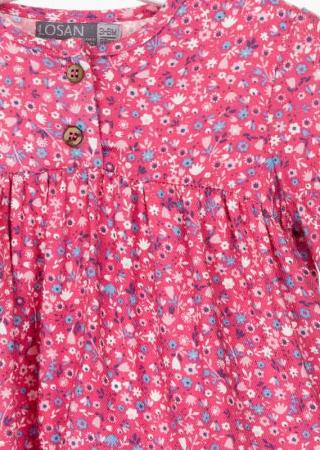 Bluza bebe fetita, imprimeu floral,roz Losan2