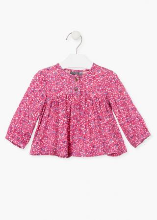 Bluza bebe fetita, imprimeu floral,roz Losan0