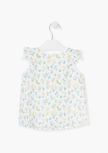 Bluza fete imprimeu flori galbene, Losan1