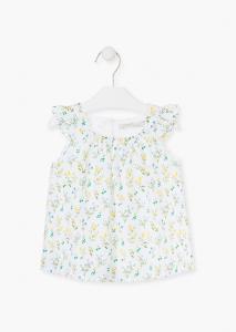 Bluza fete imprimeu flori galbene, Losan0