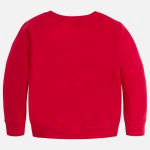 Bluza fleece cu flori Mayoral rosie1