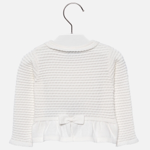 Bolero tricotat fete Mayoral ivoire1