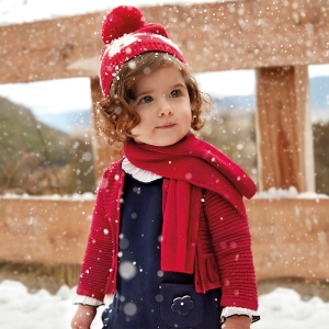 Bolero tricotat fete Mayoral rosu2