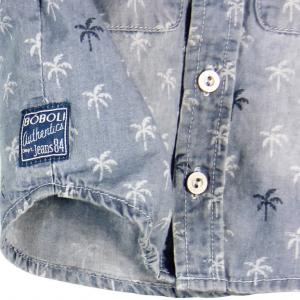Camasa jeans cu palmieri Boboli3
