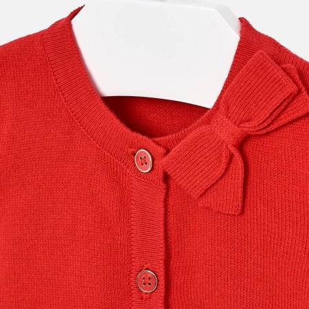Cardigan din tricot cu fundita fete Mayoral rosu [2]