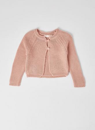 Cardigan fete roz tricotat , Babybol0