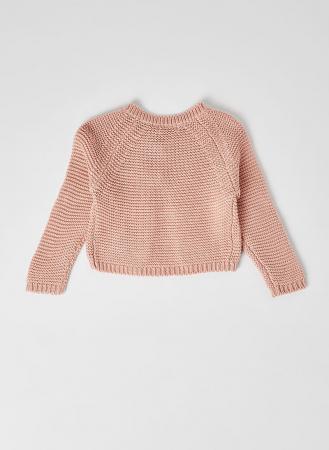 Cardigan fete roz tricotat , Babybol1