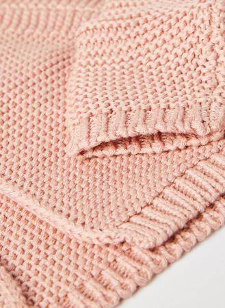 Cardigan fete roz tricotat , Babybol3
