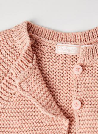 Cardigan fete roz tricotat , Babybol2