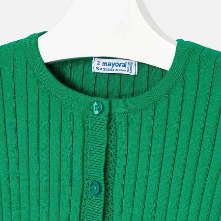 Cardigan fete tricot verde, Mayoral [3]
