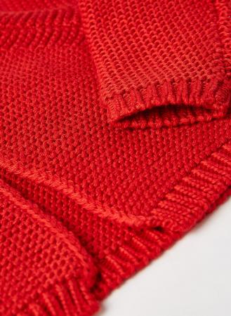 Cardigan fete tricotat, rosu, Babybol [2]
