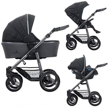 Carucior 3 in 1 Venicci Carbo Black LUX1