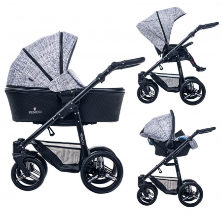 Carucior bebe 3 in 1 Venicci Fashion Black0