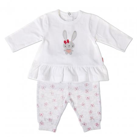 Costumas 2 piese bebe fetita, imprimeu iepuras, Babybol [0]
