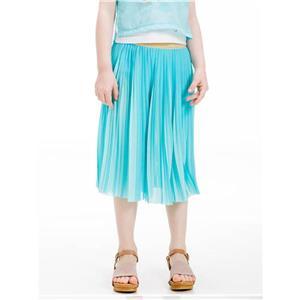 Fusta pantalon plisata fete 4-14 ani , aqua, UBS21