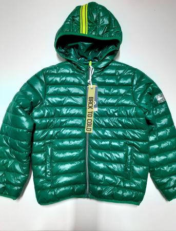 Geaca puf matlasata baiat 8-16 ani, verde , windproof, iDO2