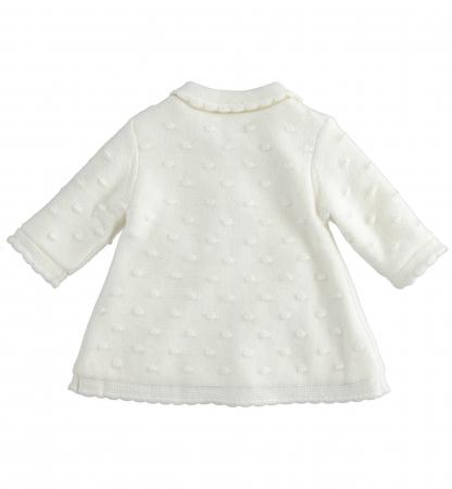 iDO Palton tricotat, captusit cu blanita, crem, 0-18 luni1